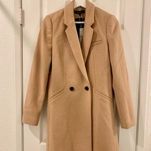 NWT Zara TRF Trafaluc Camel Masculine Coat